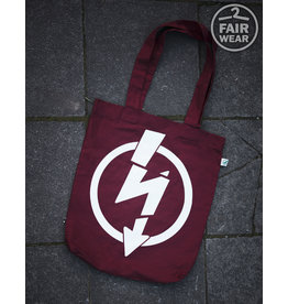 Useless Flash Logo - Burgundy Tasche, bio & fair