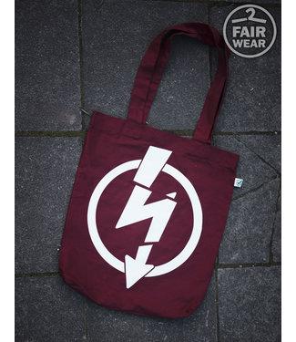 Flash Logo - Burgundy Tasche, bio & fair