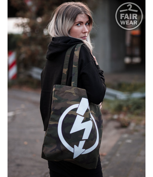 Flash Logo - Camo Tasche, bio & fair