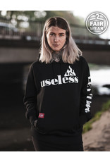 Useless Let it burn -Fair unisex Hoodie schwarz