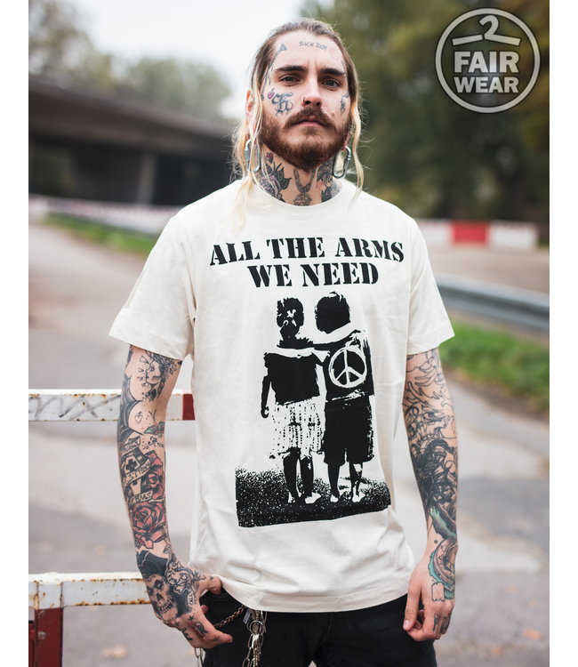 All the arms we need - unisex T-Shirt, fair, Linen