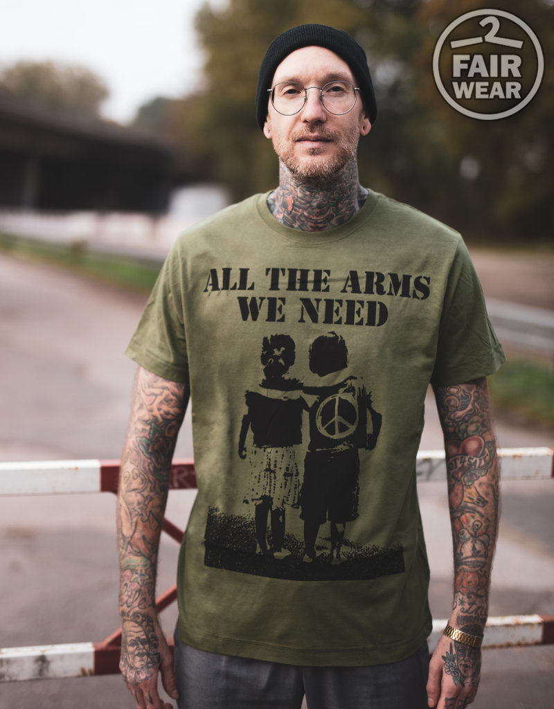 Useless All the arms we need - unisex, Fair T-Shirt oliv