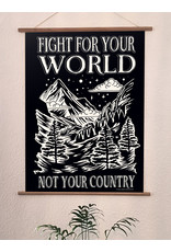Useless Hochwertiger Qualitätsdruck Din A3 - Fight for your world not your country
