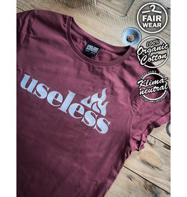 Useless Let It Burn - Girl Shirt burgundy fair