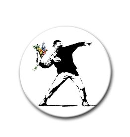 Banksy, Flowers - Button