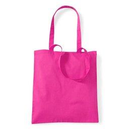 Basics Baumwolltasche unbedruckt pink