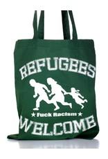 Useless Refugees Welcome - Tasche dunkelgrün