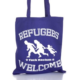 Useless Refugees Welcome - Tasche lila