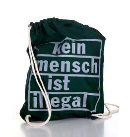 Useless Kein Mensch ist illegal - Gymbag grün