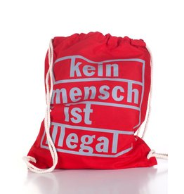 Useless Kein Mensch ist illegal - Gymbag rot