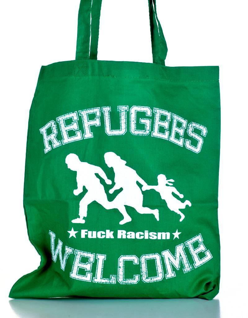Useless Refugees Welcome - Tasche grün