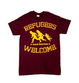 Useless Refugees Welcome T-Shirt burgundy