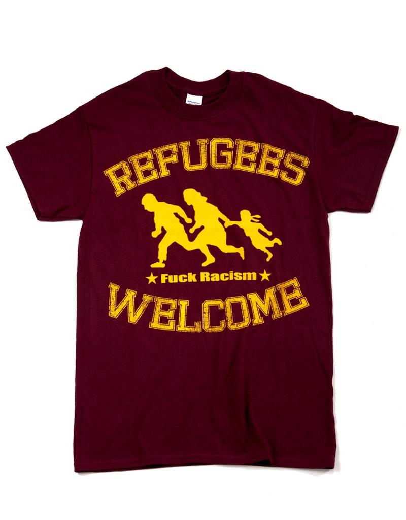 Useless Refugees Welcome T-Shirt burgundy