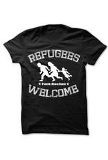 Useless Refugees Welcome T-Shirt schwarz/weiß