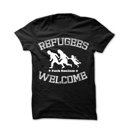 Useless Refugees Welcome T-Shirt schwarz/weiß