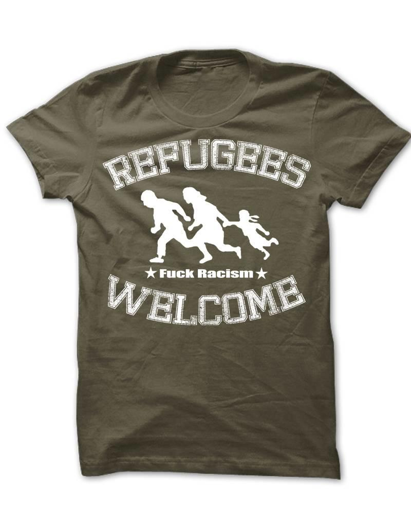 Useless Refugees Welcome T-Shirt military green