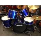 Hayman drumset blauw compleet