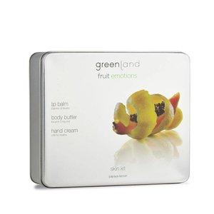 Fruit Emotions, Skin Kit Set, body butter, hand cream, lip balm papaya-lemon