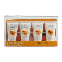 Fruit Extracts, travel kit papaya: shower gel, shampoo 2 in 1, body cream, hand cream 4x 30 ml