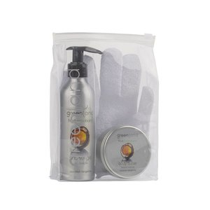 Fruit Emotions, giftset: scrub glove, shower gel 200 ml & body butter 100 ml, coconut - tangerine