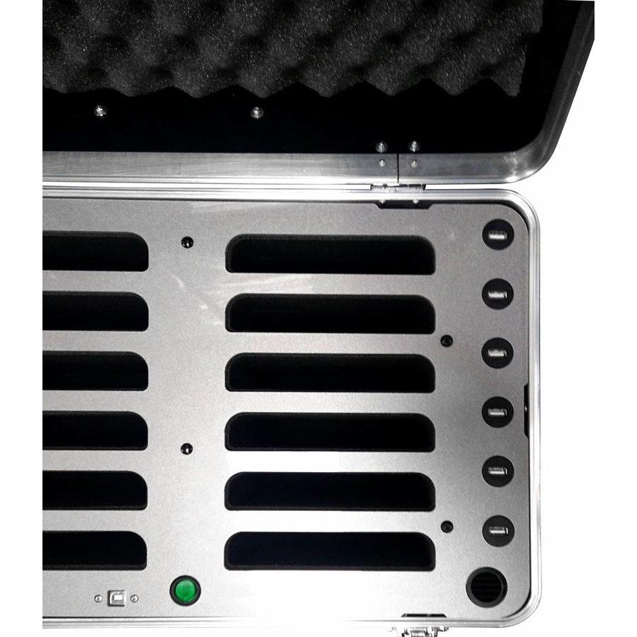 """iPad transportkoffer met laadfunctie voor 12 iPad's en tablets tot 10.2"""", inCharge C692-4"""