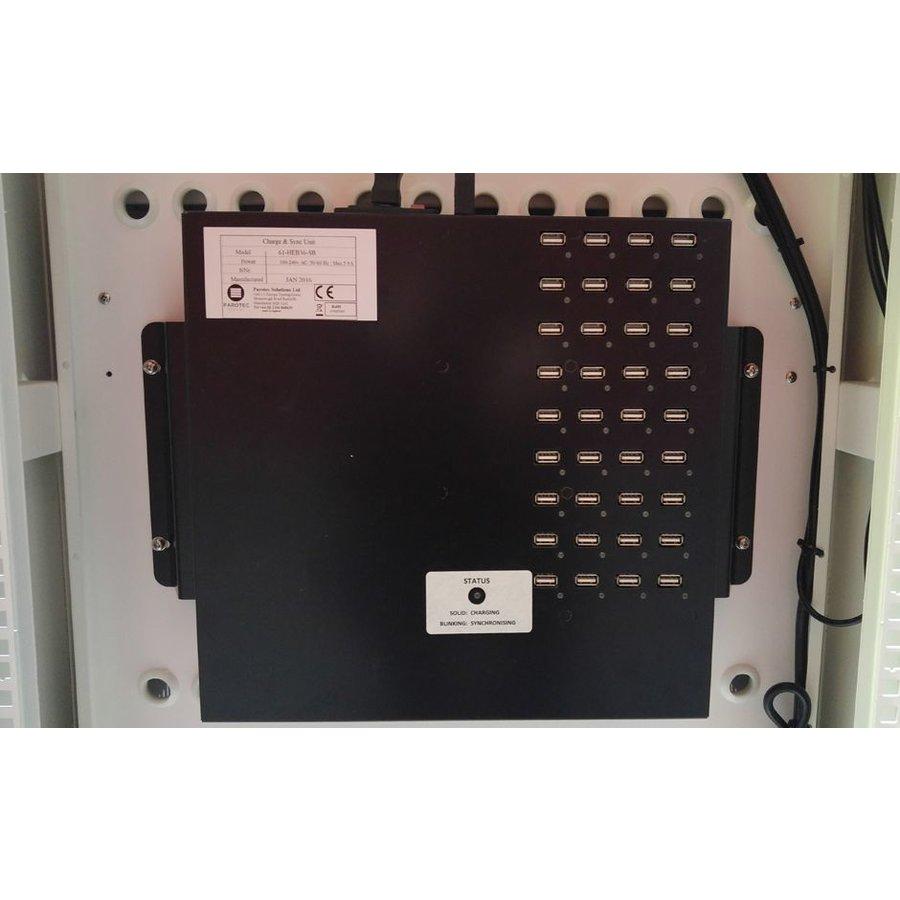 """afsluitbaar laadstation T24 met 2x 12 verticale schappen voor iPads 15.6""""-1"""