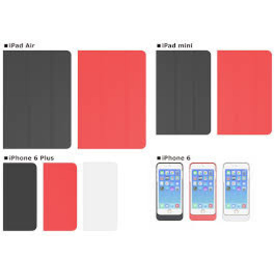 Preforza iPad Air 2 Wireless Charging Case in het rood-1