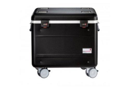 """Parat opladen C10 koffertrolley voor 10 Chromebooks van maximaal 15"""" met vakindeling zwart"""