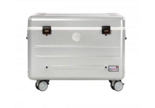 Parat N10 trolley koffer Notebooks met 10 vakken in het zilver