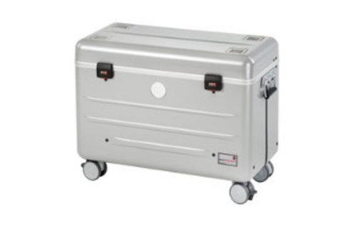 Parat opladen & synchroneren i10S trolley case met 10 vakken voor ipads in het zilver