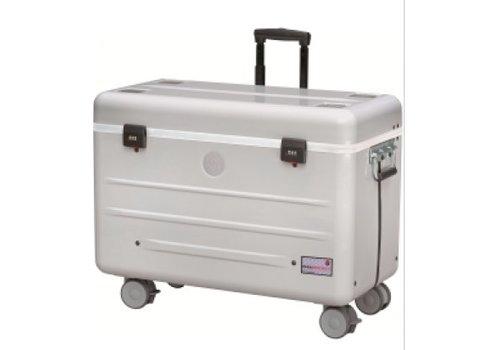 Parat opladen N12 trolley koffer voor notebooks in het zilvergrijs