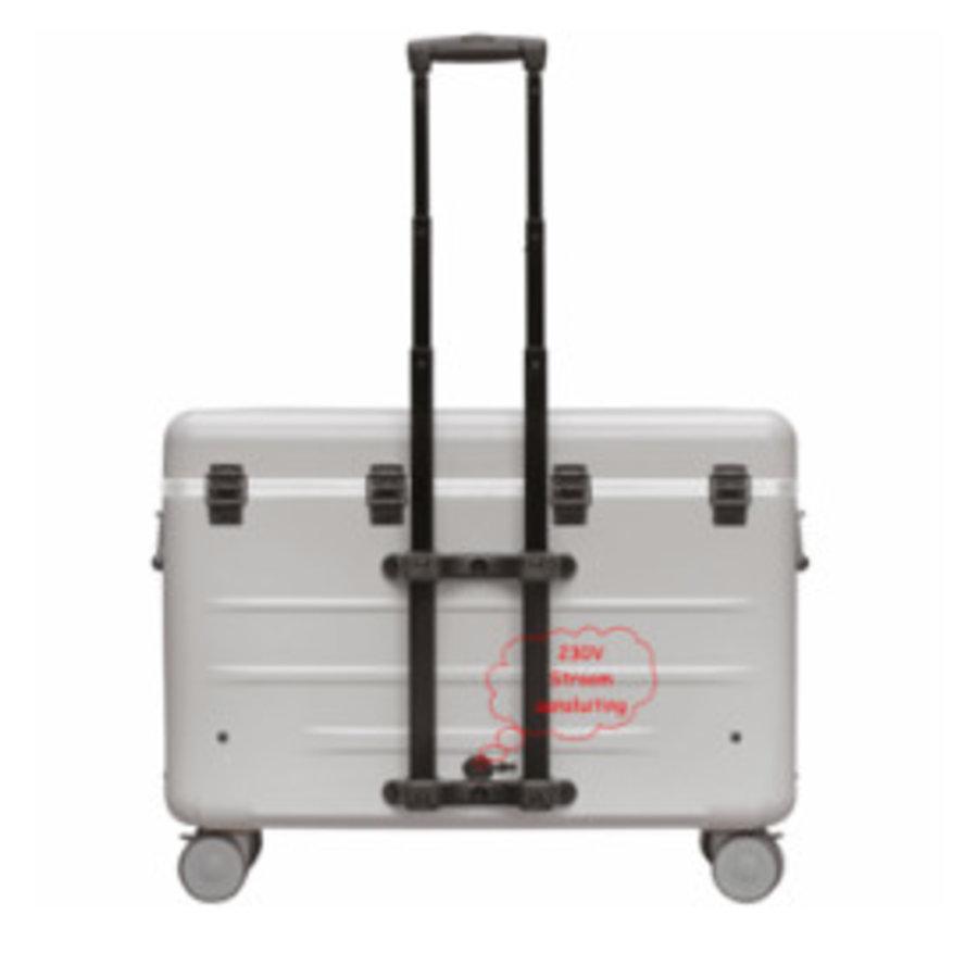 A16S trolley koffer met 16 vakken zwart inclusief LED micro-USB kabels-2