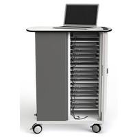 thumb-Macbook/Chromebook oplaadkar, 16 horizontale schappen, stekkerblok, kast is afsluitbaar met slot-5