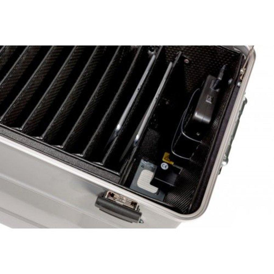 Mobiel oplaadstation voor 10 iPads, i10 trolley koffer, met 10 compartimenten zwart-6
