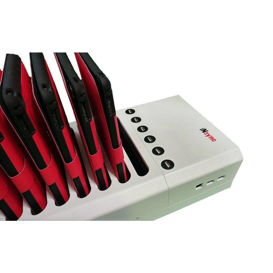 Docking van 10+6 iPads; iNsync DL10 Desktop laad & sync voor iPad en iPad Mini,-1