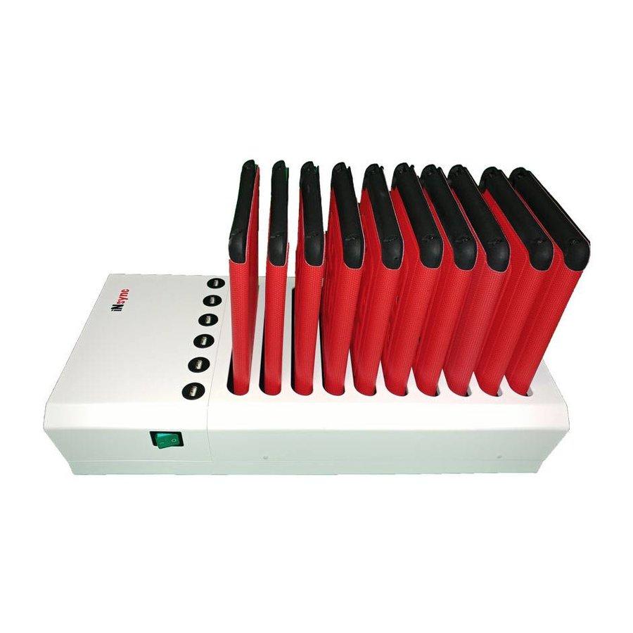 Docking van 10+6 iPads; iNsync DL10 Desktop laad & sync voor iPad en iPad Mini,-8