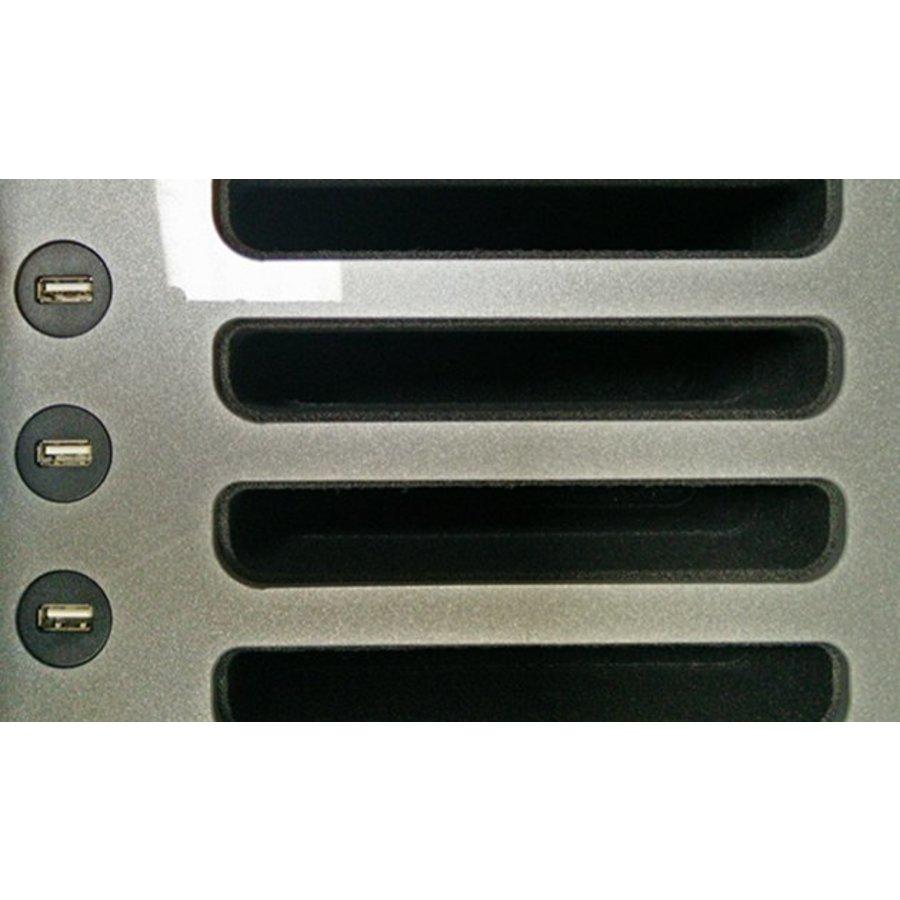 "C14; robuuste koffer voor 30 iPad Air en 10""-11"" tablets, koffer/kar op wieltjes met slot voor transport-5"