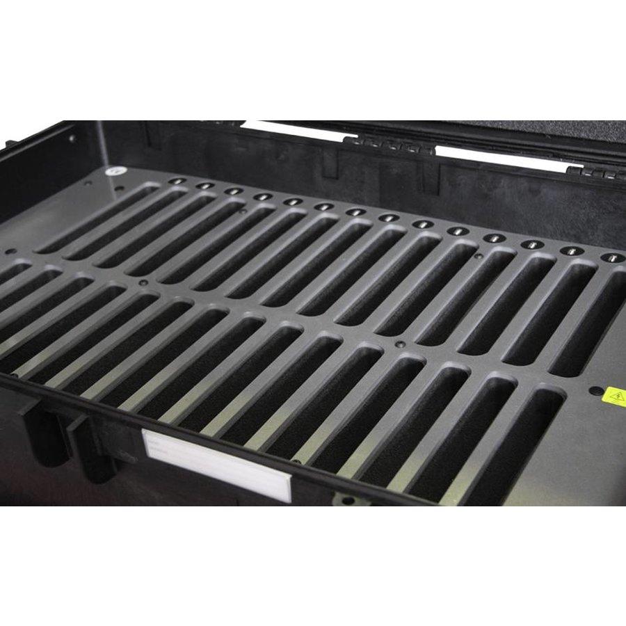 "C14; robuuste koffer voor 30 iPad Air en 10""-11"" tablets, koffer/kar op wieltjes met slot voor transport-3"