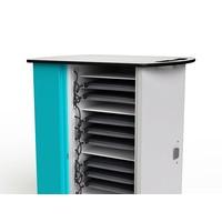 Macbook oplaadkar met 32 horizontale vakken en geïntegreerde laadfunctie