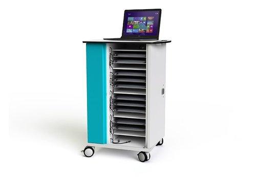 """Zioxi oplaadkast met wielen voor 16 Macbooks Chromebooks laptop notebook tot 15.6"""""""
