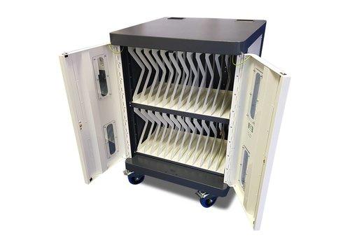 Bravour Oplaadkar voor 24 iPads, tablets, notebooks met wielen en slot