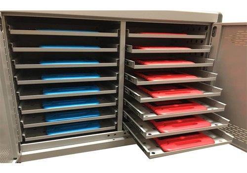 Parotec-IT oplaadkast met wielen voor 16 Macbooks