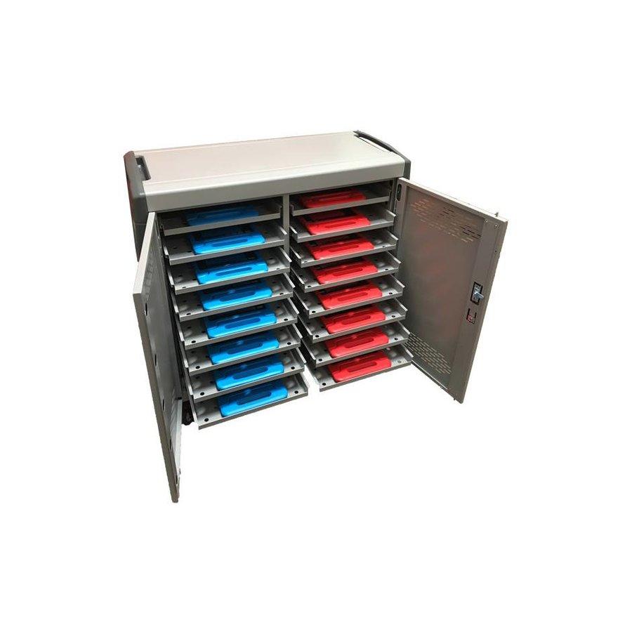 Macbook oplaadkar met 16 horizontale vakken en geïntegreerde oplaadfunctie-3