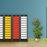 thumb-Leba Note Locker 8 oplaad- en opbergkast met 8 afzonderlijke, afsluitbare en opbergruimtes-4