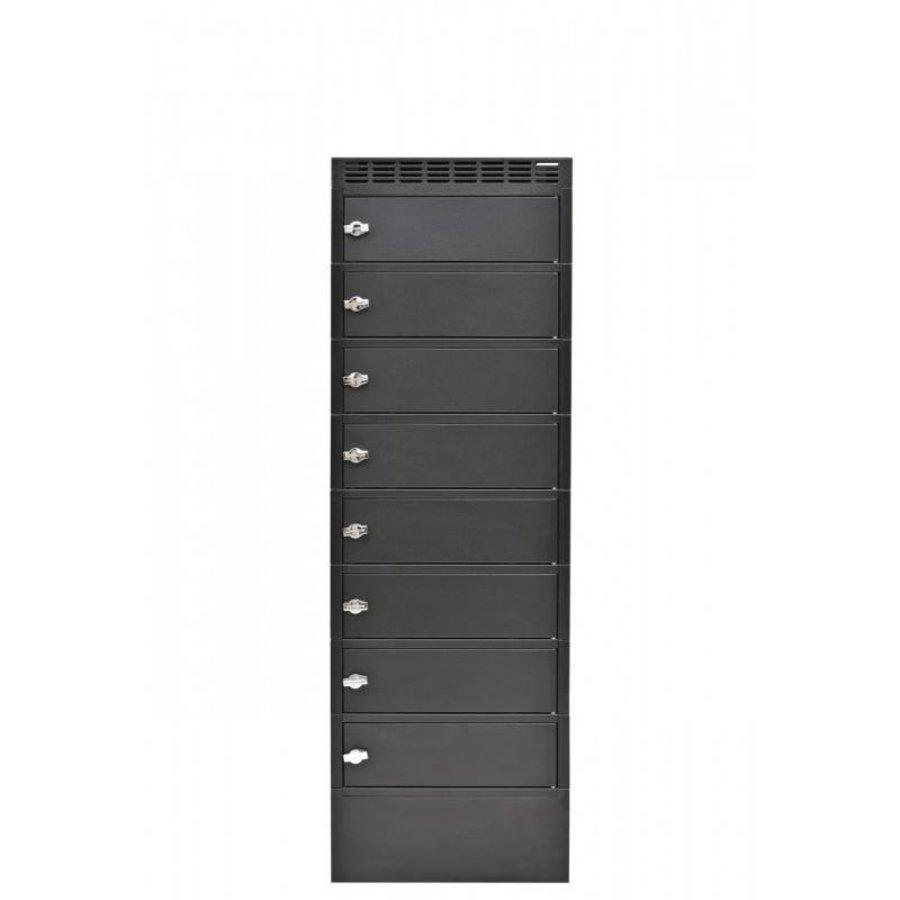 Leba Note Locker 8 oplaad- en opbergkast met 8 afzonderlijke, afsluitbare en opbergruimtes-2