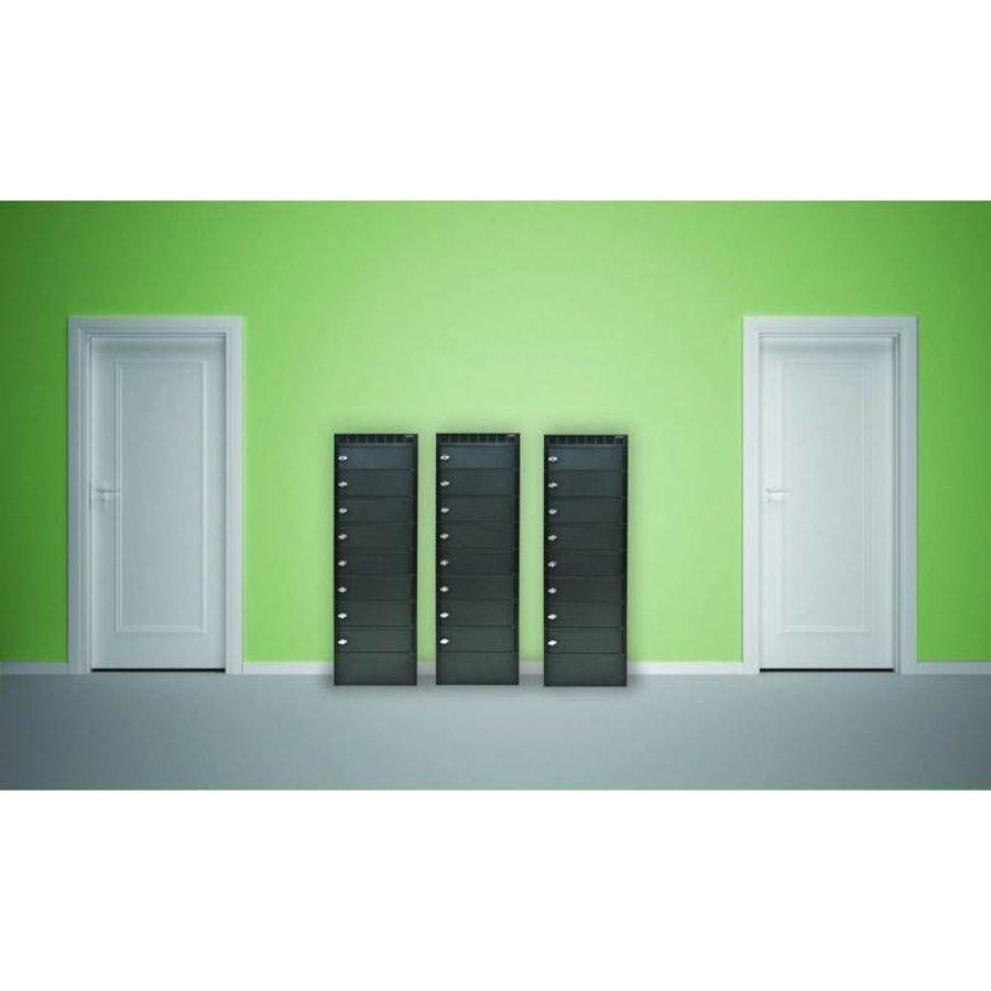 Leba Note Locker 8 oplaad- en opbergkast met 8 afzonderlijke, afsluitbare en opbergruimtes-1