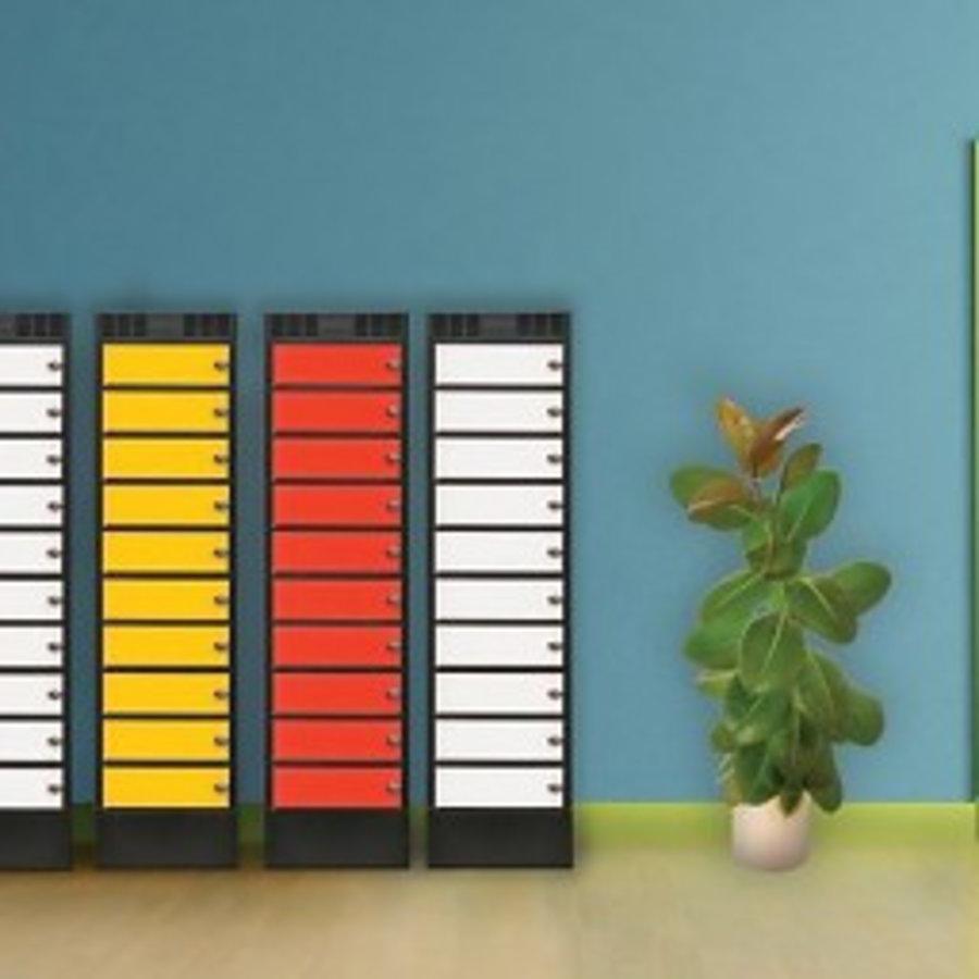 Leba Note Locker 8 oplaad- en opbergkast met 8 afzonderlijke, afsluitbare en opbergruimtes-4