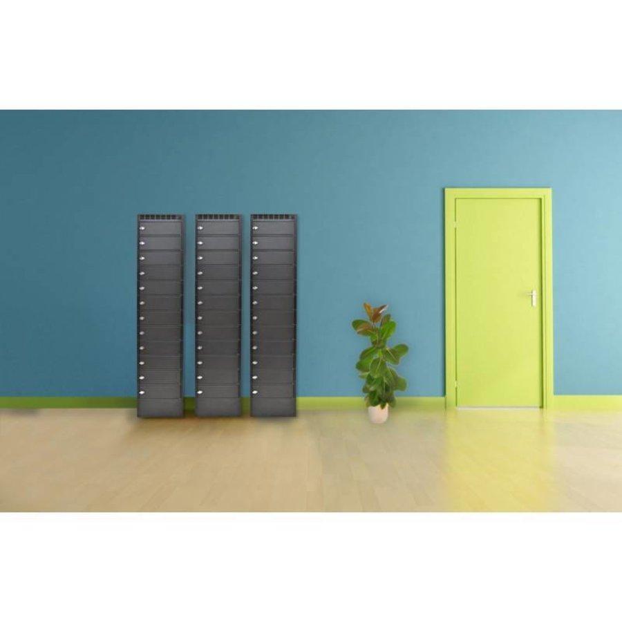 Note Locker 12 oplaad- en opbergkast met 12 afzonderlijke, afsluitbare en opbergruimtes-1