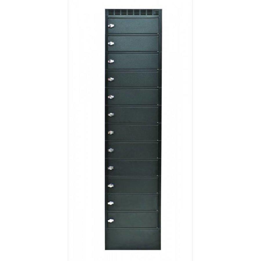 Note Locker 12 oplaad- en opbergkast met 12 afzonderlijke, afsluitbare en opbergruimtes-2