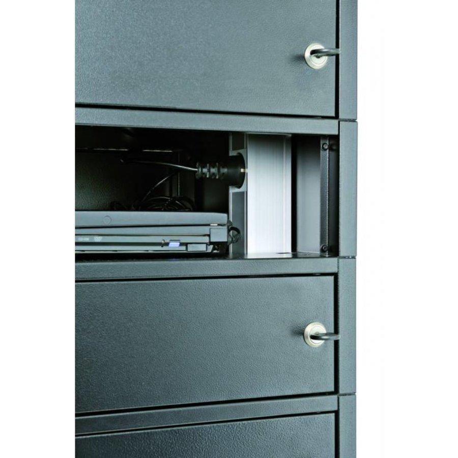 Note Locker 12 oplaad- en opbergkast met 12 afzonderlijke, afsluitbare en opbergruimtes-3